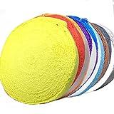 マイクロファイバー 製 タオルグリップ ロール 10m バドミントン テニス ラケット ゴルフ にも 9色から選べます (黒 ブラック)