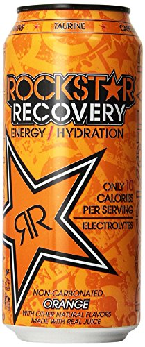 Rockstar Energy Drink, Orange Recovery, 16 Ounce (Pack of 24) (Energy Drinks Rockstar compare prices)