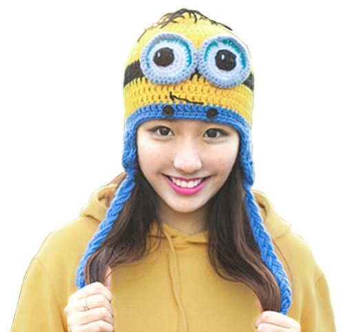 Unisex Two Eyes Crochet Hat Ski Cap Black Friday Cyber Monday