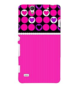 Circular Heart Design Cute Fashion 3D Hard Polycarbonate Designer Back Case Cover for Sony Xperia C4 Dual :: Sony Xperia C4 Dual E5333 E5343 E5363