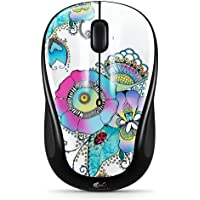 Logitech M317 Lady on the Lily Wireless Ergonomic Optical Mouse (Multicolor)