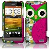 For HTC One V (Virgin Mobile) Rubberized Design Cover - Owl
