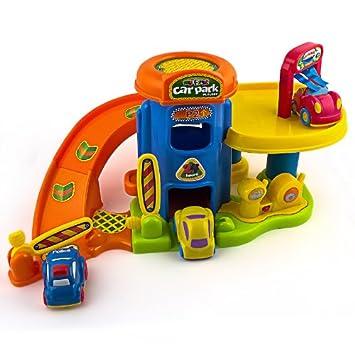 Set garage 2 piani con 3 macchinine con sound gioco giochi for Registri i piani del garage