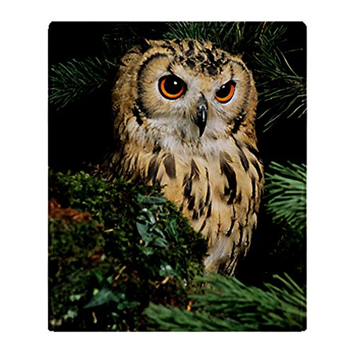 Cafepress Bangalese Eagle Owl Throw Blanket - Standard Multi-Color back-511220