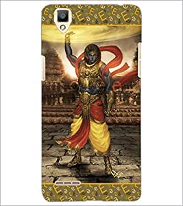 PrintDhaba Lord Krishana D-5698 Back Case Cover for OPPO F1 (Multi-Coloured)