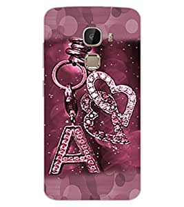 "ColourCraft Alphabet ""A"" Key Chain Design Back Case Cover for LeEco Le 2"