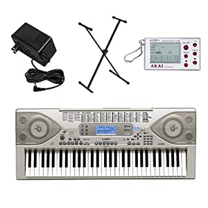casio ctk900 keyboard with power supply stand and akai digital c. Black Bedroom Furniture Sets. Home Design Ideas