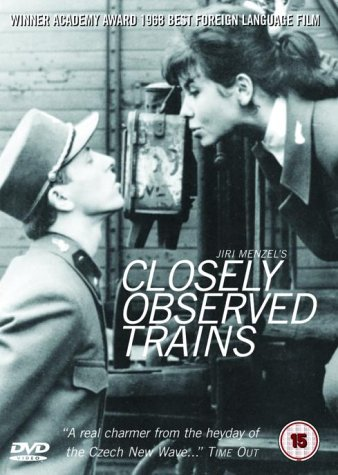 DVD cover: Closely Observed Trains.