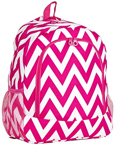 Ever Moda Pink Chevron Backpack School Bags