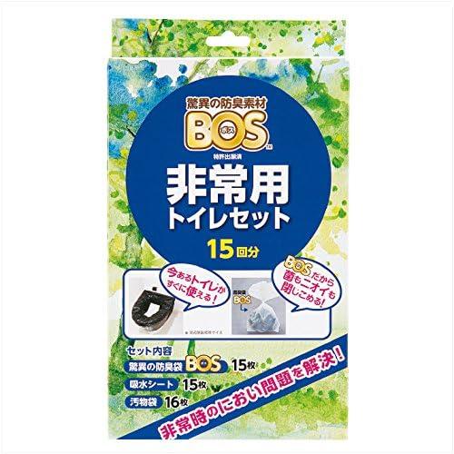 BOS (보스) 비상용 화장실 세트 15분【응고제,오물대,BOS의 3점 세트】-BOS-2726A