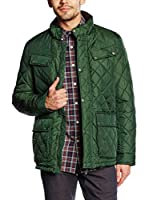 Dockers Chaqueta Guateada Quilted 4 Pocket (Verde Oscuro)