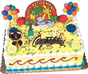 Oasis Supply Happy Retirement Party Cake Topper Decorating Kit