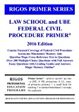 img - for Rigos Primer Series Law School and UBE Federal Civil Procedure Primer: 2016 Edition book / textbook / text book