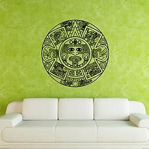 Wall decal art decor decals sticker aztecs for Aztec mural tattoos