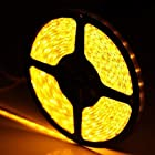 SUPERNIGHT(TM) 3528 SMD Yellow Waterproof 5M 300 LEDs Light Super Bright 60LEDs/M Strip For Party Decoration