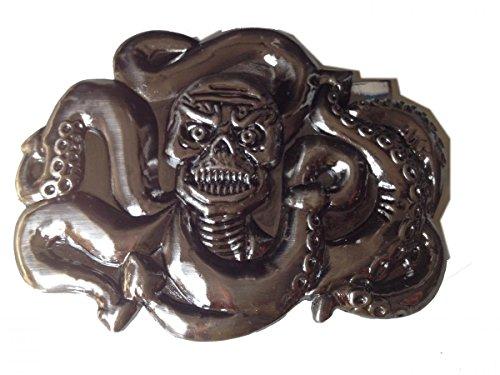Medusa Snake Skull Mens Belt Buckle Skeleton Heavy Metal Punk Rock Western American Bolo Tie