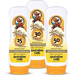 Australian Gold Broad Spectrum Water Resistant Sunscreen Lotion
