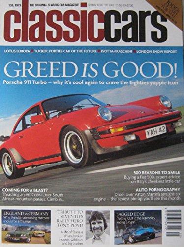classic-cars-magazine-spring-2002-featuring-ac-cobra-triumph-jaguar-porsche-lotus-bmw