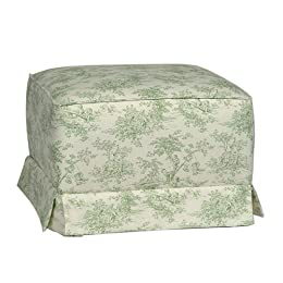 Product Image Lullaby Ottoman - Sage Toile