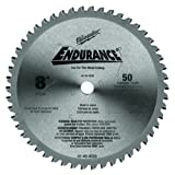 Milwaukee 48-40-4520 8-Inch 50 Tooth Ferrous and Non-Ferrous Metal Cutting Saw Blade with 5/8-Inch Arbor