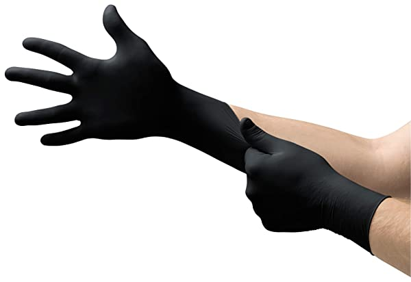 Extra Strong Black Nitrile Powder /& Latex Free Disposable Gloves Tattoo Mechanic
