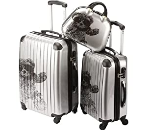 pap 2er kofferset 4 rollen beautycase 35cm silver. Black Bedroom Furniture Sets. Home Design Ideas