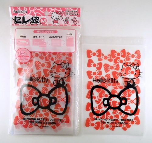 Gift ♪ to organize small items! ★ [Sanrio: Hello Kitty Cele bag M Chuck with ★ ( 15 pieces )