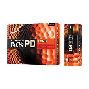 Nike Precision Power Distance Long Golf Balls - Orange - 12-Pack
