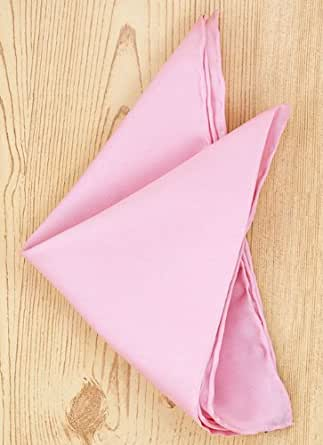 Pink Silk Pocket Square Size = One Size