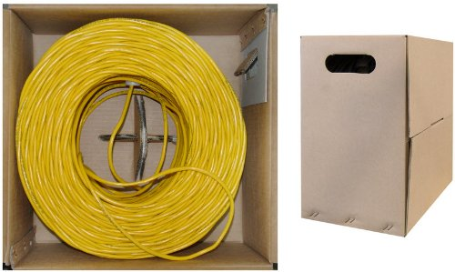 C&E 1000 feet CAT5E 24AWG 4PR Stranded Ethernet Cable Yellow