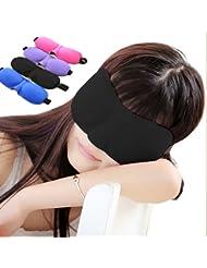 3D Sleep Mask Comfortable Eye Mask Wear No Trace (Black)