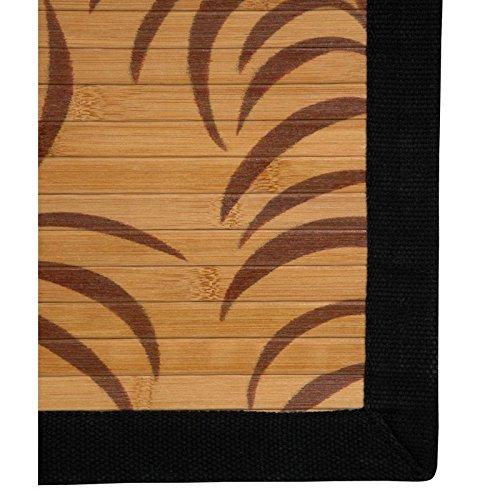 ORIENTAL FURNITURE Bamboo Rug - Tropical Leaf - 5 x 8