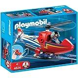 Playmobil - 4824 - Jeu de construction - Hélicoptère de pompier