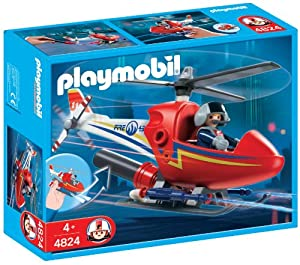 Playmobil 626122 - Bomberos Helicóptero Incendios