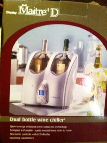 Maitre'D Dual Bottle Wine Chiller Wine Cooler front-55634