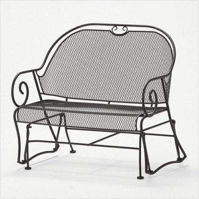 Buy Low Price Woodard Cantebury Gliding Barrel Loveseat Finish: Textured Black (7L0079-92)