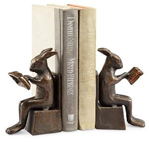Amazon.com - Studious Rabbit Bookends - Decorative Bookends