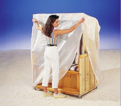 Schutzhülle Strandkorb Abdeckung 130 x 165 cm robustes PE Bändchengarn günstig online kaufen