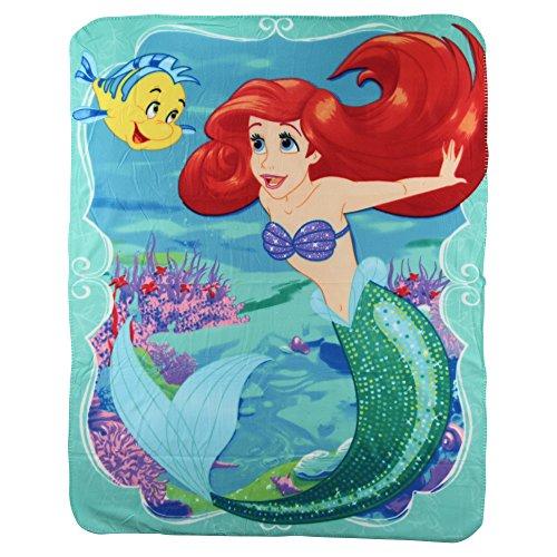 little-mermaid-ariel-flounder-kids-character-lightweight-fleece-throw-blanket