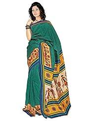 Araham Printed Art Silk Saree With Blouse - B00L4XYL66