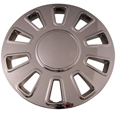 Set of 4 Chrome 17 Inch Aftermarket Replacement Hubcaps with Snap On Retention System - Part Number: IWC433/17C