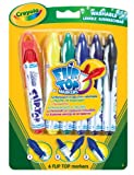 PACK OF 3 - Crayola Flip Top Markers (6 Markers Per Pack)