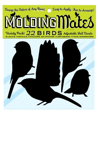 Molding Mates Variety Bird Pack 22 Molding Mates Home Decor Peel And Stick Vinyl Wall Decal Stickers