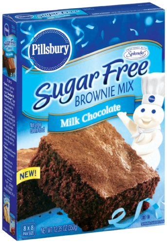 Pillsbury Sugar Free Milk Chocolate Brownie Mix, 12.3800-Ounce (Pack of 6)