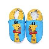 Piel suave de zapatos Boy ni�as infantil beb� jirafas 18�-�24�meses