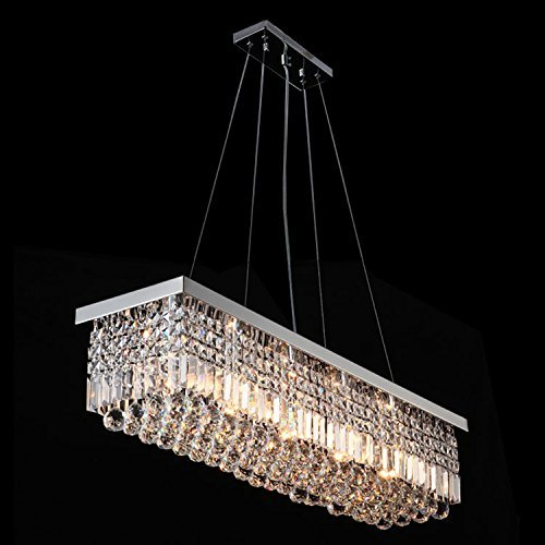 Crystop clear k9 crystal chandelier dining room light for Dining room 5 light chandelier
