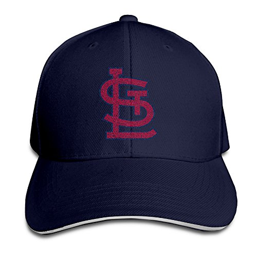 [Hotboy19 Adult St. Louis Baseball Logo Adjustable Baseball Hat Navy] (Fredbird Costume)