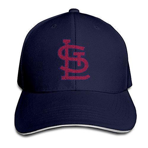 Hotboy19 Adult St. Louis Baseball Logo Adjustable Baseball Hat Navy