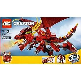 レゴ クリエイター レッドドラゴン 6751