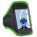 ITALKonline GREEN BLACK Sports GYM Jogging ArmBand Arm Band Case Cover for Sony Ericsson ST23i Xperia Miro